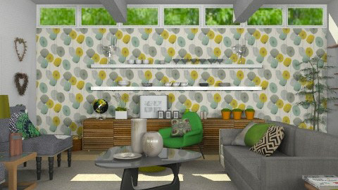 Sixties Suburban - Retro - Living room  - by Carliam