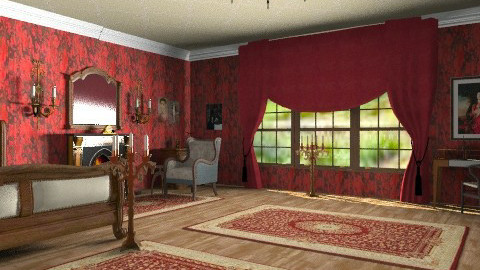 The red room _ Jane Eyre - Classic - Bedroom  - by auntiehelen