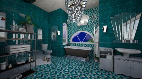 deco - Bathroom  - by Karen Priest