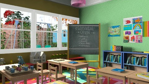 Little Skool - Modern - Kids room  - by chloedaniella