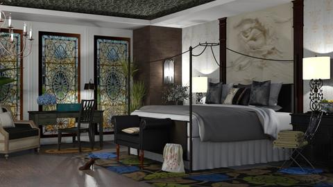 art nouveau bedroom - Bedroom  - by nat mi