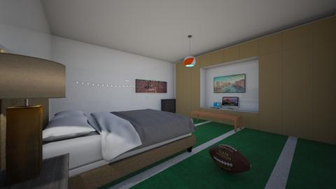 Sports Fan Bedroom - Modern - Bedroom  - by Charginghawks