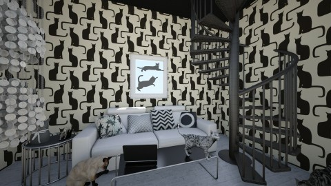 Cats - Minimal - Living room  - by MagiaMugi