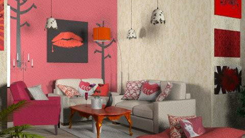 Ether  - Rustic - Living room  - by SariJo