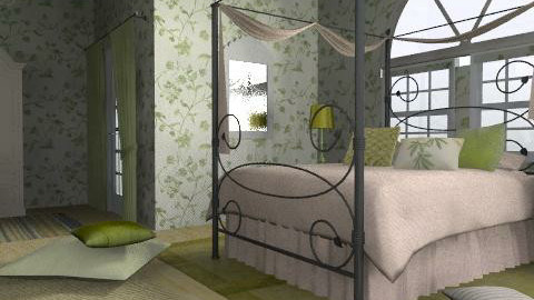 green bedroom - Eclectic - Bedroom - by chania