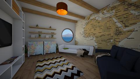 Travel themed living spac - Living room  - by BubbleSloth