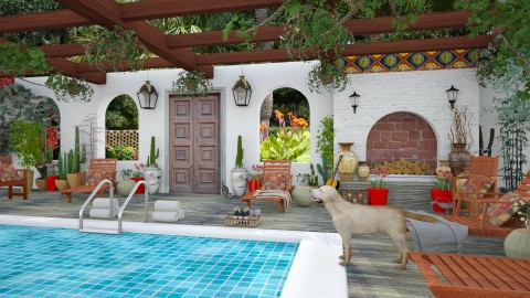 Design 201 Hacienda Pool - Garden  - by Daisy320