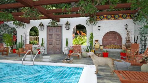 Design 201 Hacienda Pool - Garden  - by Daisy320