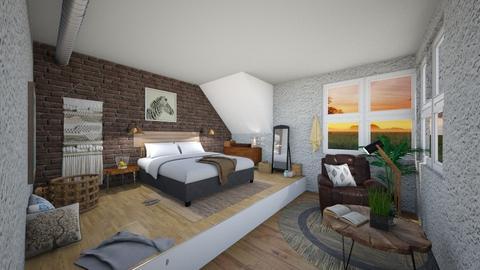 Attic Bedroom - by gayathrikurandwad