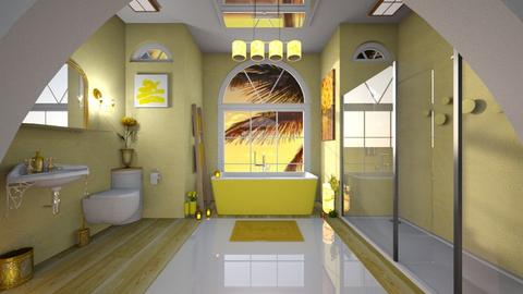 Yellow Bathroom - Bathroom - by Milapr
