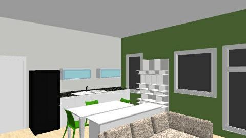 Kuchyne a obyvak - Minimal - Kitchen  - by Theodor Slovacek