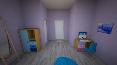 UA dorm - Bedroom  - by LibertyPrincess