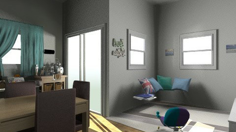 kitchen and living room  - Modern - Living room - by sydneysky