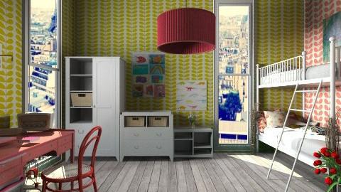 Kids Art BEDROOM - Kids room  - by AnnaMull