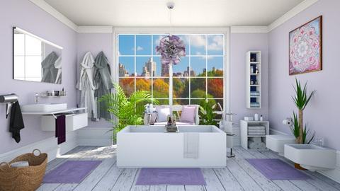 Lavender bath - Bathroom  - by Vicesz