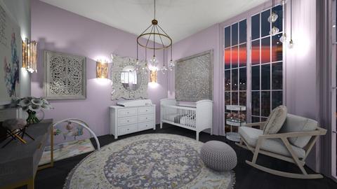 violet nursery - Kids room  - by graciecbogardus