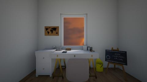 stormy day office - Modern - Office  - by Thepanneledroom