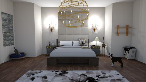 Blurry Bedroom - Modern - Bedroom  - by StitchFan