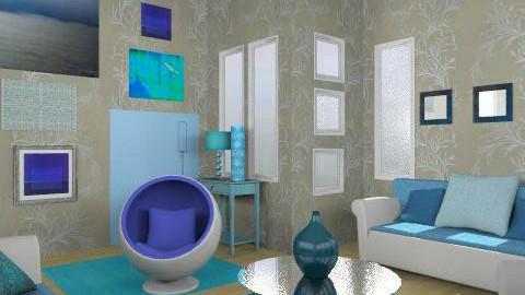 blue 2 - Retro - Living room  - by trees designs