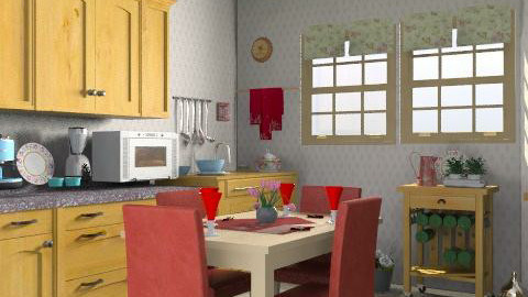 Country kitchen - Country - Kitchen  - by milyca8