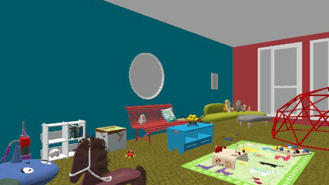 playroom - Retro - Kids room  - by Jessiecait