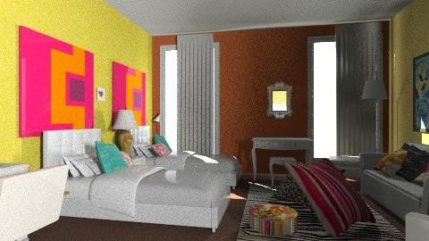 Bedroom - Retro - Bedroom  - by Tamara93