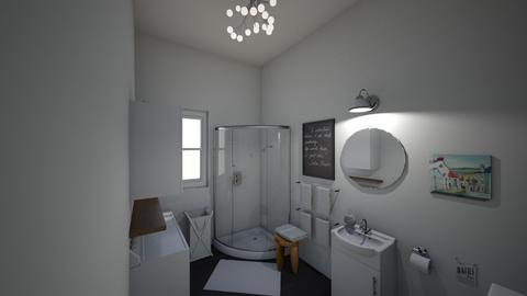 Guest Bathroom_Laundry - Bathroom - by y2kiki
