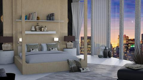 Penthouse bedroom 18th room - Bedroom  - by shoalehnia