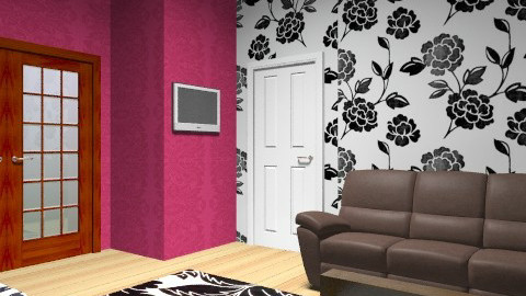 Pink, black, and white bedroom - Feminine - Bedroom - by Hoppertons