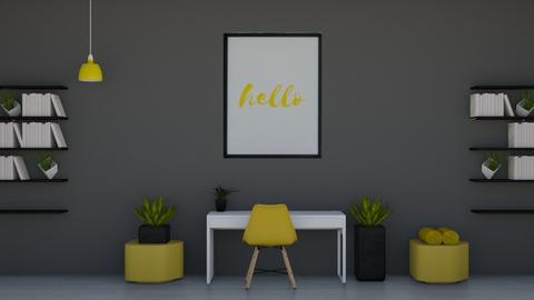 Yellowblack working space - Modern - Office  - by Ari_adnos