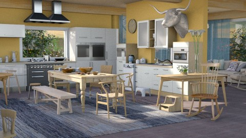 Jaya family kitchen - Rustic - Kitchen  - by anchajaya