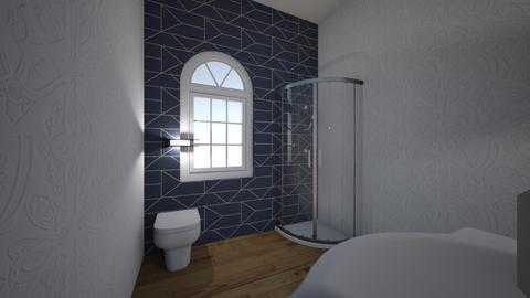 blue design - Bathroom  - by sepslytherin_corgi303