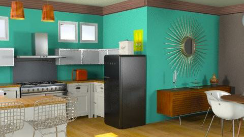 modern kitchen - Retro - Kitchen  - by crystal aston