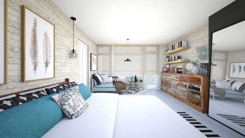 Bedroom redesign III - Modern - Bedroom  - by meggle