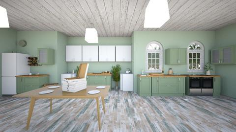 Green Kitchen - Kitchen  - by Nick Mayberry