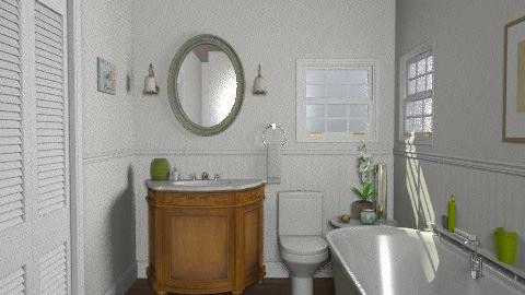 Lakeside Cottage - Guest Bathroom - Rustic - Bathroom  - by LizyD