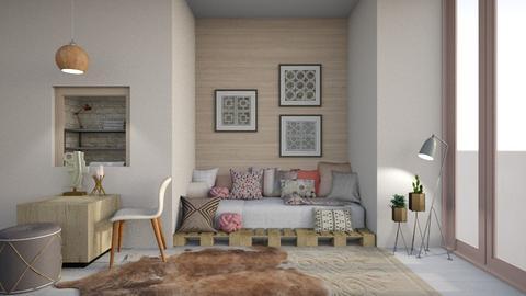Mild Tones - Bedroom - by Asha_Shade