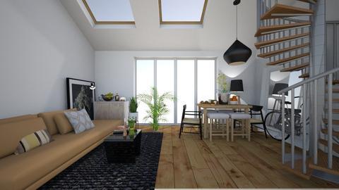 small loft living room - Living room  - by mari92u6