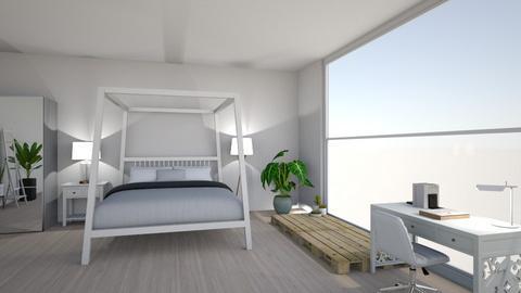 bright bedroom - Modern - Bedroom - by suu