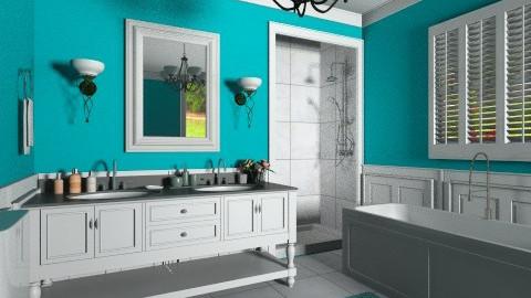 Bathroom in blue diamond - Bathroom  - by XValidze