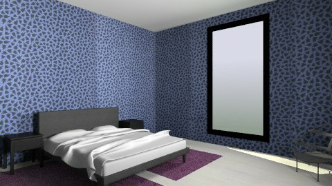 deep blue bedroom - Bedroom - by Gusak Evaiva