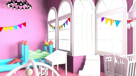 my littel sister gimnastic nursery - Glamour - Kids room  - by Isy Trisorio