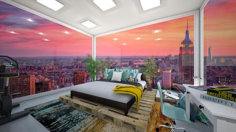 NYC Bedroom 2 - Modern - Bedroom  - by Pheebs09
