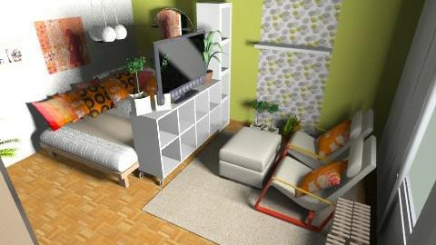 nappalihalo_zoldnarancs - Minimal - Bedroom - by suliadri
