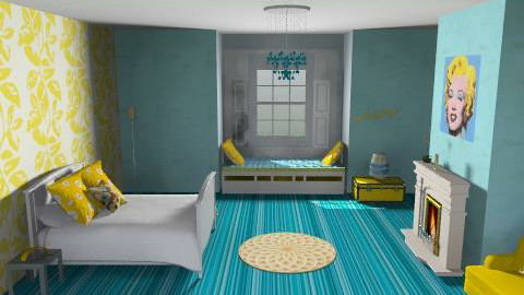 Blue Banana - Retro - Bedroom - by K_White