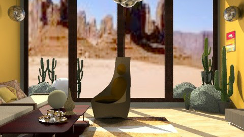 Dune - Rustic - Living room  - by PomBom