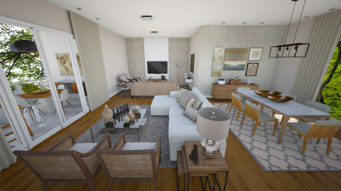 woods - Living room - by julianadm