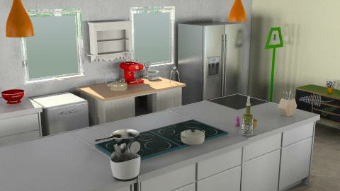 kitchen 6 view - Minimal - Kitchen  - by kiadeco