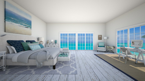 Beach Retreat - Rustic - Bedroom  - by nyc17