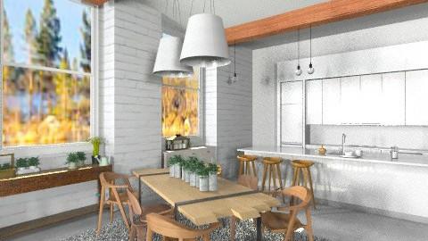 kuchnia salon licencjat  - Eclectic - Kitchen  - by npnatalia